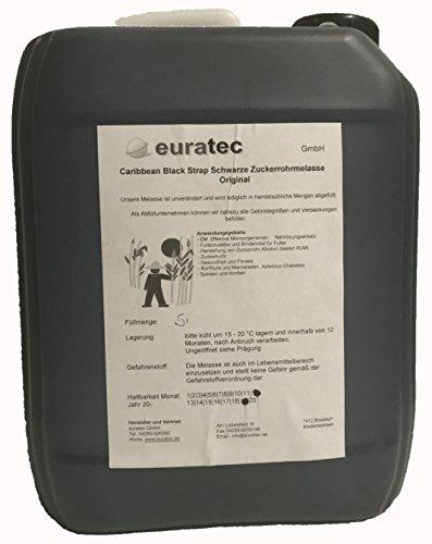 Caribbean Black Strap Reine Zuckerrohr Melasse 5 Liter
