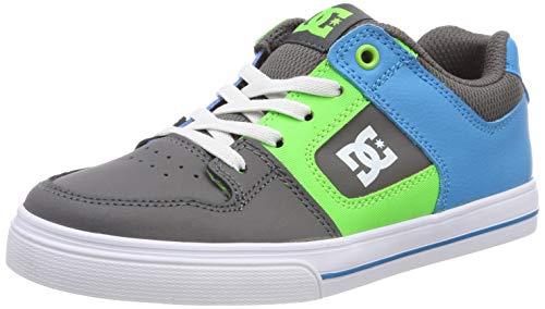 DC Shoes Jungen Pure Skateboardschuhe, Mehrfarbig (Grey/Green/Blue XSGB), 28 EU