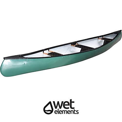 Saarwebstore Wet-Elements Kanu North Lake III grün PE Kunststoff für 3 Personen Angelkanu Kajak Paddelboot Freizeitkanu Canadier