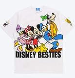 ミッキー&フレンズ Tシャツ 白 Mサイズ べスティーズ DISNEY BESTIES 東京ディズニーリゾート TDR パークフード・アイコン 頬杖スマイル