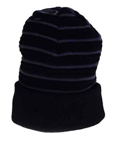 1 Bonnet rayé doublé Polaire- Mixte Homme, Femme, Adolescent, Taille Unique. 100% Acrylique. 6 Coloris aux Choix
