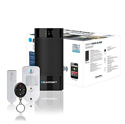 Blaupunkt Q3000 Kit de Alarma inalámbrica IP para casa, local, oficina. Sistema inteligente de seguridad sin cuotas. Antirrobos y okupas. Incluye panel de control, sensor para puertas y ventanas DC-S4, detector PIR de movimiento IR-S4. Recibe alertas en tu móvil. Funciones de domótica configurables. Fácil de instalar DIY