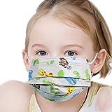 Hengd 50 Stück Einweg- Gesichtsmasken Mund Nasen Schutzmaske Einmal-Mundschutz 3-lagig (Tiere - Kinder)