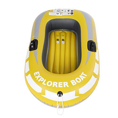 Nikou Kayak Inflable de PVC, Bote de Aire de Remo Inflable para 1 Persona para Pesca, Buceo a la Deriva, Amarillo