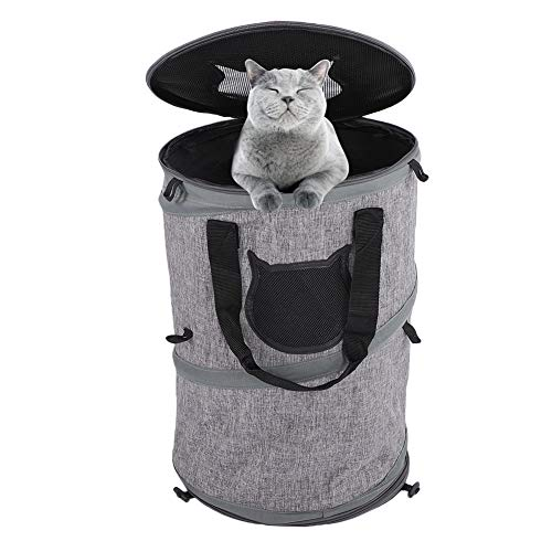 Greensen Pop Up Pet Cat Dog Carrier Handbag Portable Collapsible Cat Dog Play Tube Bag Tough Durable Breathable Oxford Fabric Pet Carrying Bag