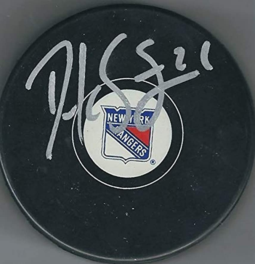 Autographed Signed Derek Stepan New York Rangers Hockey Puck - Certified Authentic