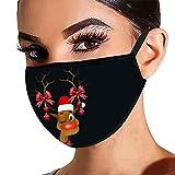 Precioul Schuhe 1pc Erwachsene Mundschutz mit Motiv Weihnachten Lustig Waschbar Mund und Nasenschutz Cartoon Druck Maske Tücher Atmungsaktiv Mund-Tuch Bandana Halstuch Schal