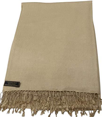 CJ Apparel Crema oscuro Nepal Diseño color sólido del mantón de abrigo...
