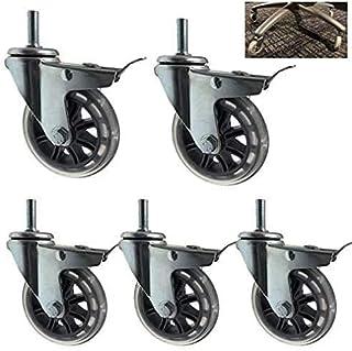 Rubber Swivel Wiel Werkbank Casters voor Bureaustoel Universele Standaard Stuurpen 12x30mm Ondersteuning 600lbs Kleur Naa...