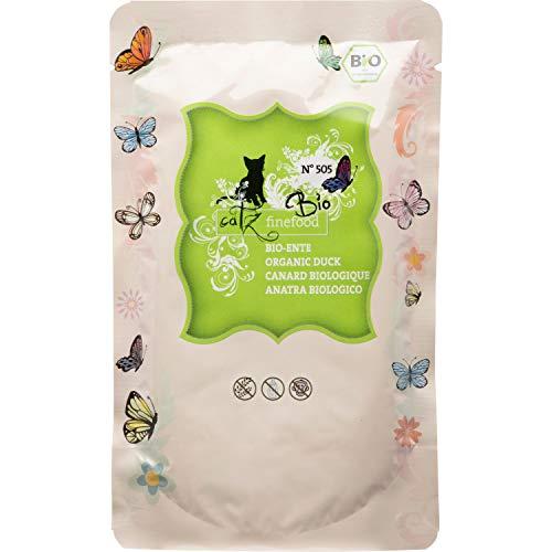 Catz finefood - Cibo biologico per gatti con anatra – N° 505 – Cibo umido per gatti – 12 x 85 g – senza cereali e zucchero aggiunto (1,02 kg)