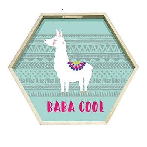 CMP, Plateau Bois Hexagonal Lama GM Baba Cool