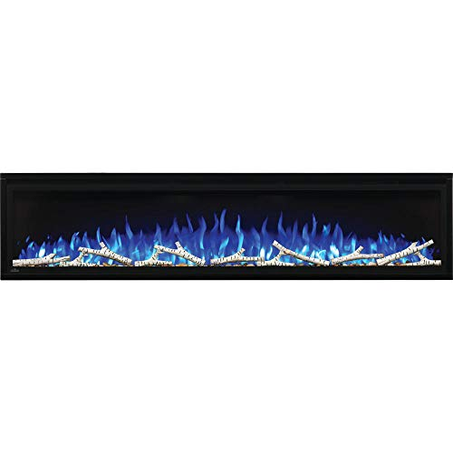 Napoleon Entice-NEFL72CFH Wall Hanging Electric Fireplace, 72 Inch, Black