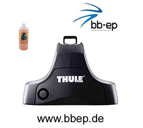 Thule Alu-Dachträger 90423501 mit Neuer WingBar Traverse Komplet System inkl. Schloss für Volkswagen Golf (VII) mit normalem Dach - inkl. 1 l Kroon Oil ScreenWash