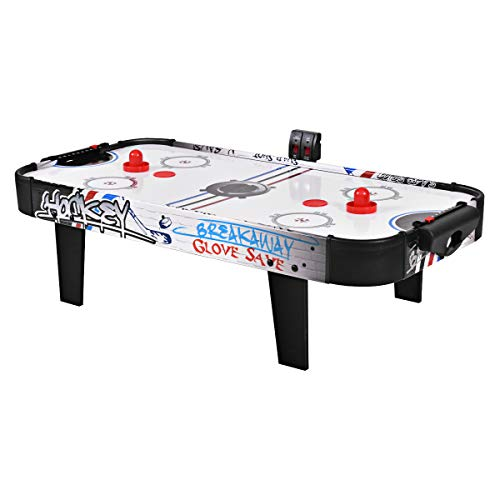 Goplus Air Powered Hockey Table, LED Electronic Scoring Indoor Sports Game for Kids (42