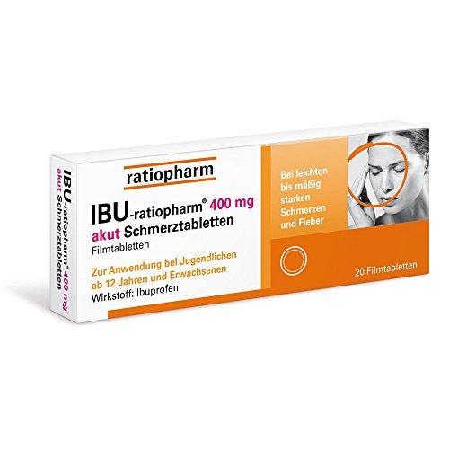 IBU-ratiopharm akut 400 mg Schmerztabletten, 20 St. Tabletten