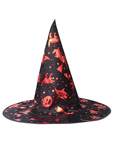 Sombrero de bruja de Halloween Fancy Bronzing Wizard Hat Gorra puntiaguda para mujer, carnaval, Navidad, cosplay, accesorio de fiesta, color negro_talla nica