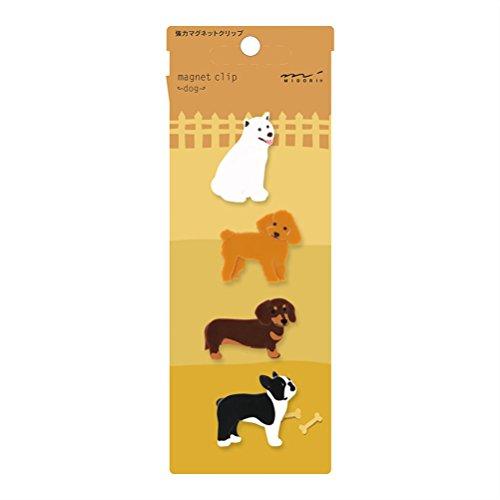 Midori Magnet Clip, 4 Pieces, Dogs (43323006)