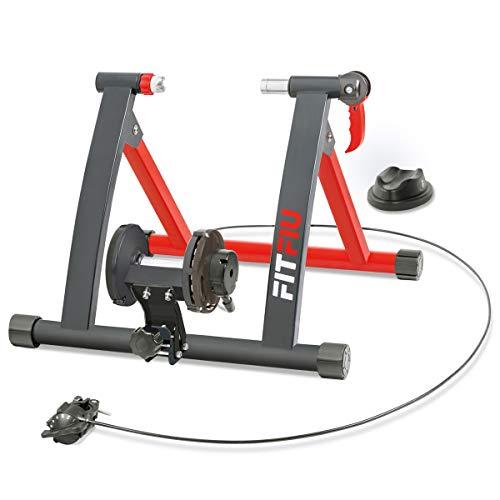 FITFIU Fitness ROB-10 - Rodillo para Bicicleta plegable con resistencia magnética, Rodillo Ciclismo para entrenamiento en casa 55x43cm
