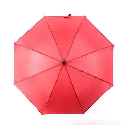 HXIFYS Golfschirm,Übergroß 8 Knochen Gerader Regenschirm,Ballaststoff Draussen Regenschirm Mit Langem Griff,Schwarzer Kleber Reise Regenschirm,Halbautomatisch Wunderschönen/Rot / 110x98cm