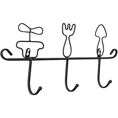 HHTX Gancho de baño Color sólido Estilo nórdico Diseño Lindo Gancho para el hogar Forma de vajilla Gancho para Llaves Ropa Delantal Perchero Perchero Ganchos Dormitorio/A