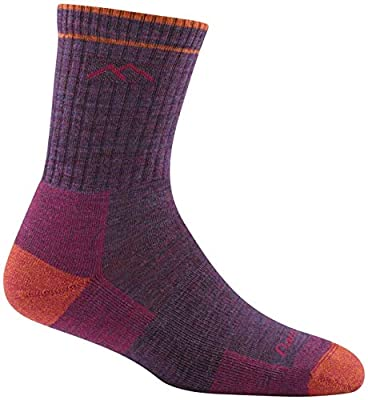 Darn Tough Hiker Micro Crew Cushion Sock - Women's Plum Heather Medium