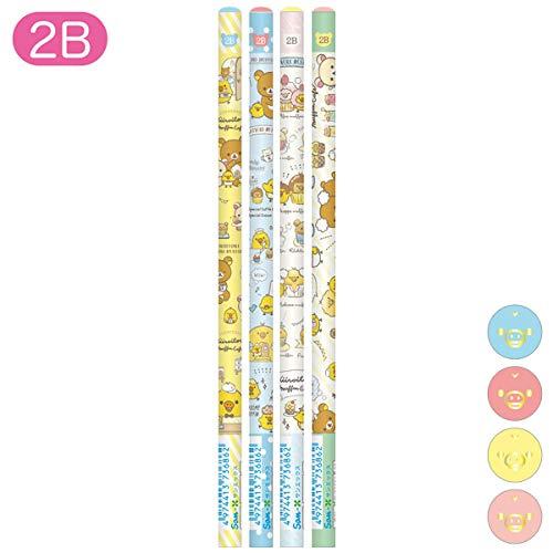 リラックマ キイロイトリマフィンカフェテーマ 鉛筆 (2B) 4本セット PN28501