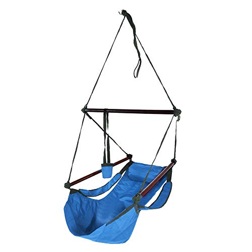 Demeras Single & Double Rollover Prevention Hammocks Nylon Hammock Swing Portable Nylon Hammock for Backpacking Camping Travel for Outdoor Hiking Travel Backpacking(Blue)