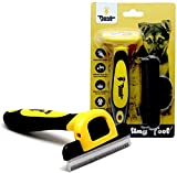 Thunderpaws Professional De-shedding Tool and Pet Grooming Brush, D-Shedz for Breeds of Dogs, Cats with Short or Long Hair, Small, Medium and Large