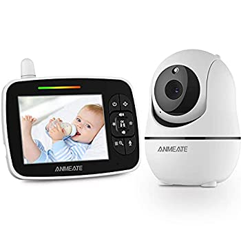 """Baby Monitor with Remote Pan-Tilt-Zoom Camera 3.5"""" Large Display Video Baby Monitor with Camera and Audio 