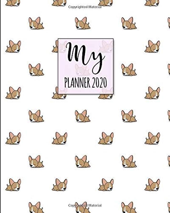 連邦買い物に行く財政My Planner 2020: 2020 Weekly Planner. Monthly Calendars, Daily Schedule, Important Dates, Mood Tracker, Goals and Thoughts all in One! Cute Chihuahua Cover.