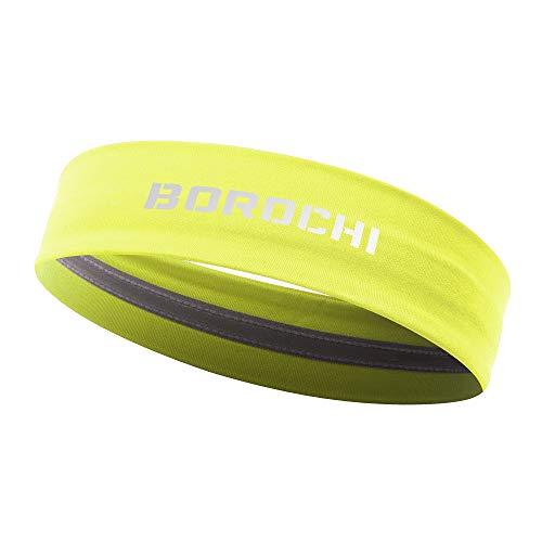 Fitness-Stirnband - Elastizität Turban Für Yoga Laufen Rad Exersize Sport Sweat-Haar-Bänder Für Frauen Männer -Gelbe 1Pack