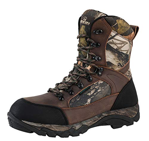 Men's Waterproof Leather and Camo Outdoor Hunting Boot