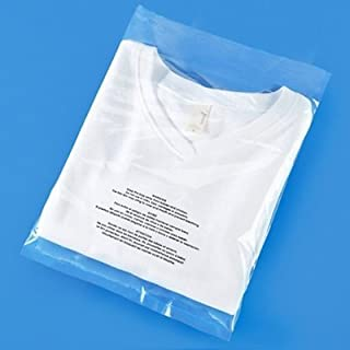 """Spartan Industrial    100 Count - 9"""" X 12"""" Self Seal Clear Poly Bags with Suffocation Warning for Packaging, T Shirts & FBA (More Sizes Available) - Permanent Adhesive"""
