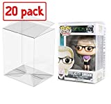 PLAYOLY Pop Protector Case for Funko - 4' Inch Pop! Vinyl Figures, Strong Pop Protectors, Crystal Clear, Heavy Duty Acid Free w/ Protective Film Lot of 20