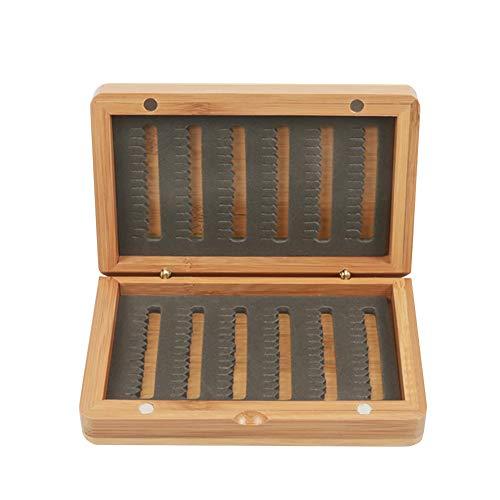 Almabner Classic Bambus Holz Fliegenbox Fliegenfischen Fliegenbox 2 Größen, Wie abgebildet, l: 125mm