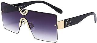 GODYS - Hombres europeos y americanos s gafas de sol de moda retro metal damas marco grande cara redonda gafas de sol-Gold_Frame_Gradient_Gray