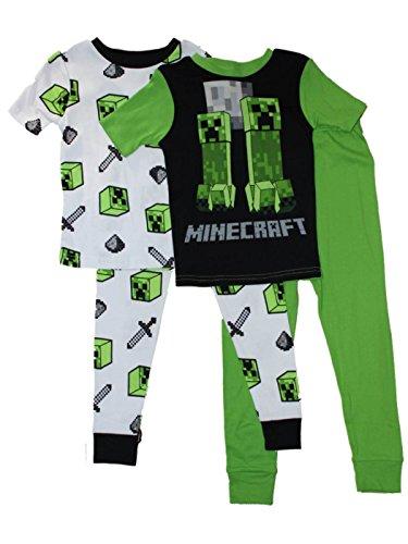 Minecraft Boys Cotton Short Sleeve Pajamas 2-Pack 6-12