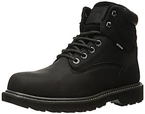 """WOLVERINE Men's Floorhand Waterproof 6"""" Steel Toe Work Boot, Black, 11.5 M US"""