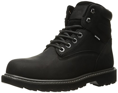 Wolverine Men's Floorhand Waterproof 6' Steel Toe Work Boot, Black, 10.5 M US