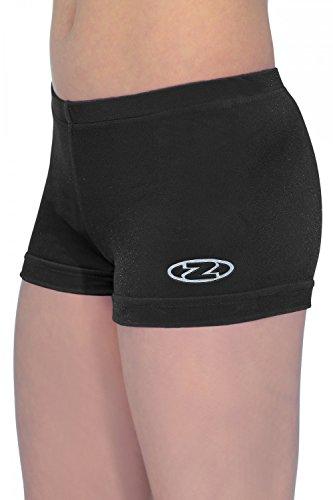 The Zone Z2000 - Pantalones cortos de gimnasia (de tiro corto, velour y lycra) negro negro Talla:32 (11-13 years)