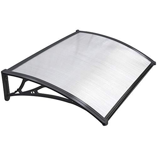 Toldo de PVC para patio, toldo para puerta y ventana, impermeable, color blanco, tamaño: 60 x 100 cm.