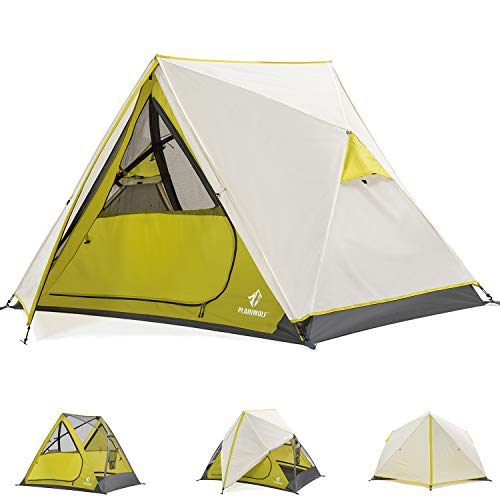 Tents for Camping, Easy Setup 2 Person Family Cabin Tent Waterproof Portable Instant Pop Up Tent for Indoor Outdoor Hiking Mountaineering Backpacking Green