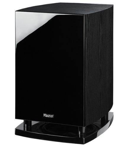 Magnat Quantum 6725 A Aktiver Subwoofer, Bassreflex, Downfire schwarz (front piano schwarz/seitenteile esche dekor schwarz)