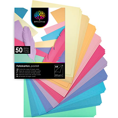 Cartulinas A3 Colores Pastel Marca OfficeTree