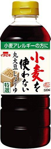 イチビキ 小麦を使わない丸大豆醤油 500ml×2本