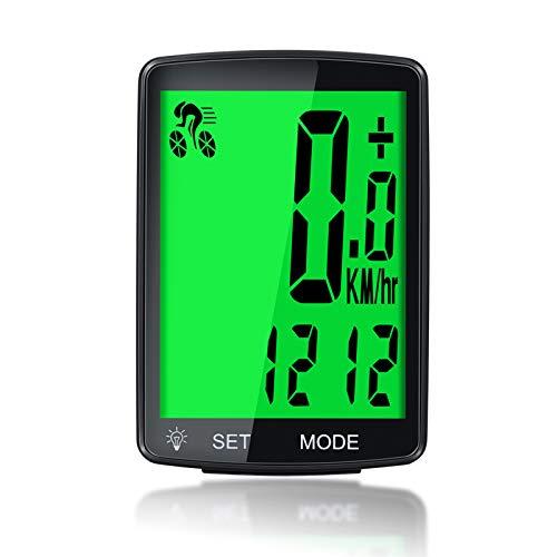 GESTAND Tachimetro per bicicletta impermeabile senza fili con retroilluminazione LCD computer per bicicletta, contachilometri per bicicletta, accessori per mountain bike