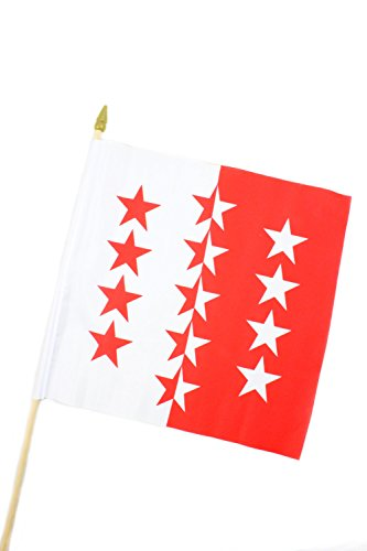 Creation Gross Fahne Flagge Wallis 30 x 30 cm mit Holzstab Höhe 61 cm(0140317)
