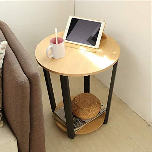 Kays Beistelltisch Couchtisch Sofatisch Wohnzimmertisch Ende Tabellen Beistelltisch, Doppeldecker Tee-Tabelle Kaffeetisch, leicht zu montieren, for Wohnzimmer, Schlafzimmer (Color : Yellow Oak)