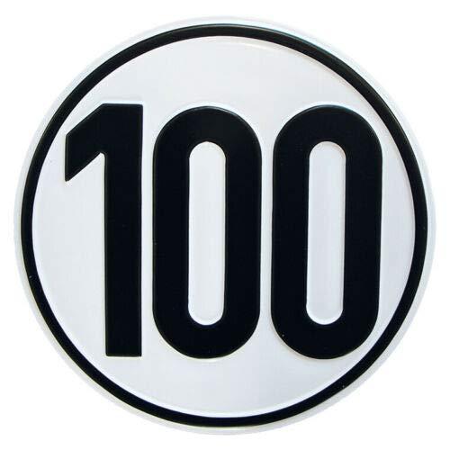 Systafex® Alu Geschwindigkeitsschild Schild 100 km/h Höchstgeschwindigkeit für Anhänger Bauwagen (100km/h Alu Schild)