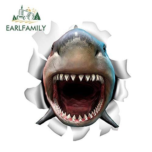 FAFPAY Car sticker 13cm x 11.6cm shark vinyl sticker torn metal decal personality fish car stickers 3d shark car styling accessoriesStyle A